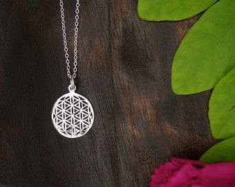 FLOWER OF LIFE Medium Sterling Silver 925 Pendant