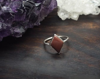 MAHU Red Jasper Sterling Silver 925 Ring