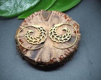 AHANU Spiral Brass Earrings