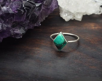 MAHU American Turquoise Sterling Silver 925 Ring