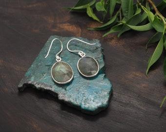 AMITOLA Labradorite Sterling Silver 925 Earrings