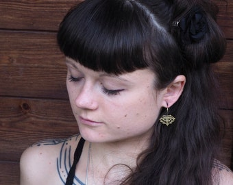 HELKI Tribal Brass Earrings