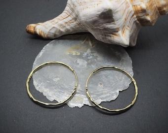 ZONTA Brass Hoops Earrings