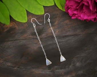 APONI Moonstone Sterling Silver 925 Earrings