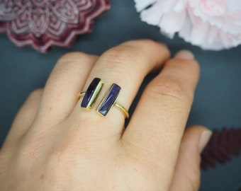 KELE Amethyst Brass Ring