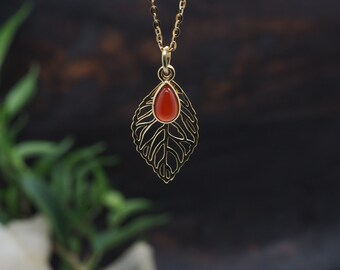ABEY Carnelian Sterling Silver 925 18ct Gold Plated Pendant