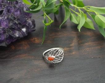 ABEY Carnelian Sterling Silver 925 Ring