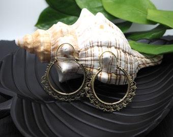 GYPSY Tribal Brass Earrings