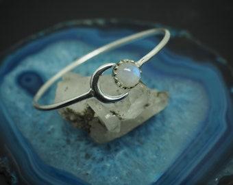 MOON Silver Plated Bracelet