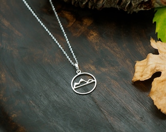 MOUNTAIN Sterling Silver 925 Pendant