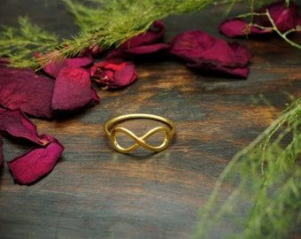 INFINITY Sterling Silver 925 18ct Gold Plated Ring