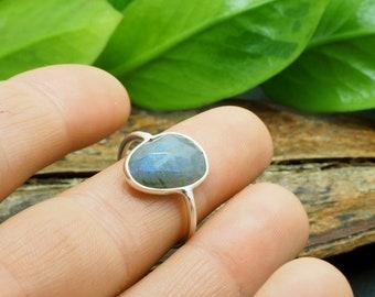 LABRADORITE Sterling Silver 925 Ring