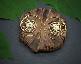 HONOVI Tribal Brass Earrings