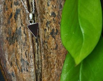 TRIANGLE Garnet Sterling Silver 925 Pendant