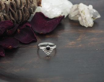ADSILA Black Onyx Sterling Silver 925 Ring