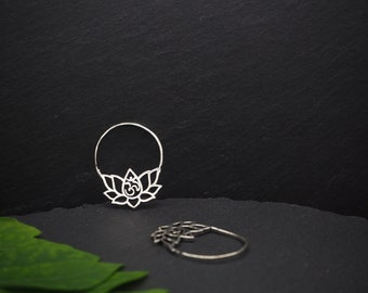 OM Silver Plated Earrings