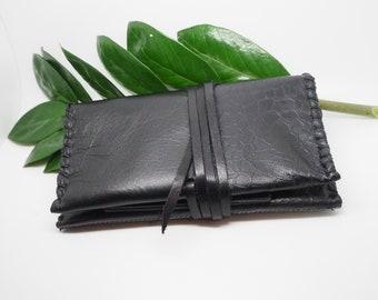 Tobacco Pouch Kachina Leather Black
