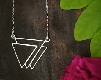 THE GEOMETRY Sterling Silver 925 Necklace
