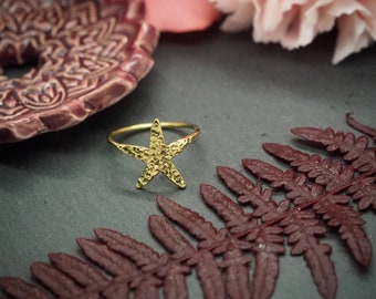 Starfish Brass Ring