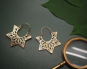HOWI Tribal Brass Earrings
