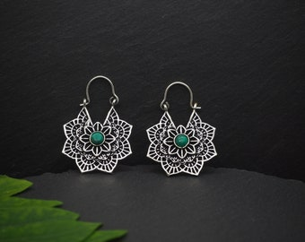 MIWOK Turquoise Silver Plated Earrings