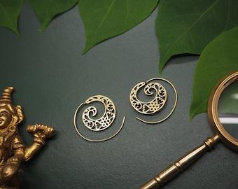 ALGOMA Tribal Brass Earrings