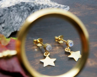 Ear Stud  Gold Plated