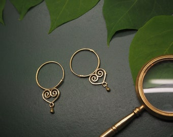 KIMIMELA Tribal Brass Earrings
