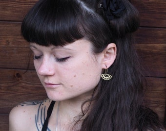 ETHETE  Tribal Brass Earrings