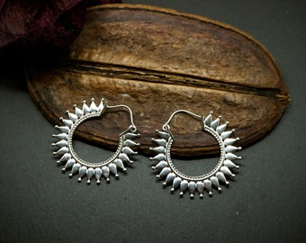 AWENA Hoop Silver Plated Earrings