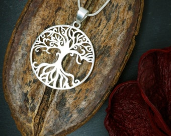 TREE OF LIFE Silver Plated Pendant