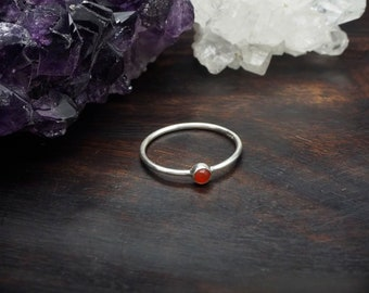 ANGENI Carnelian Sterling Silver 925 Ring