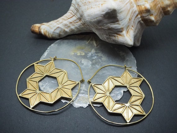 Luyu Tribal Nickel free Brass Hoop Earrings