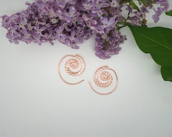 SMALL SPIRAL Copper Earrings