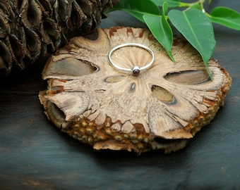 ANGENI Garnet Sterling Silver 925 Ring