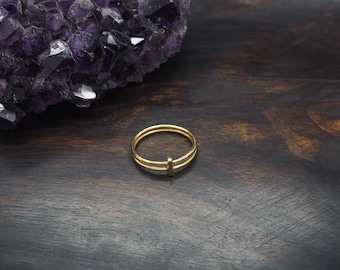 KOSA Sterling Silver 925 18ct Gold Plated Ring