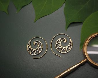 MUNA Tribal Brass Earrings