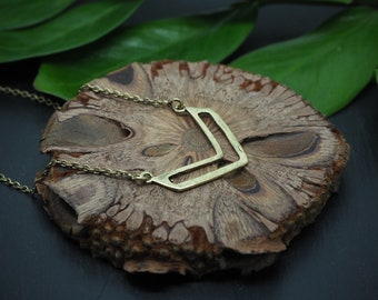 TRIANGLE Brass Necklace
