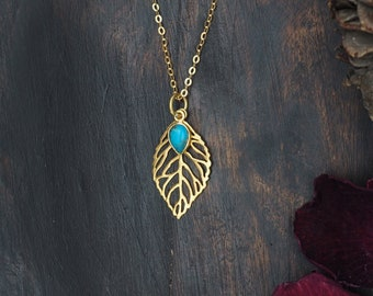 ABEY Turquoise Sterling Silver 925 18ct Gold Plated Pendant