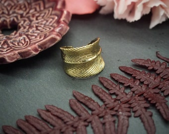 Feather Brass Ring