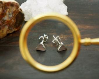 MAKA Rose Quartz Sterling Silver 925 Ear Stud