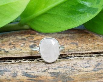 AMODILA ROSE QUARTZ Sterling Silver 925 Ring