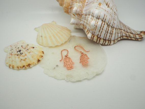 Fatima Copper Earrings