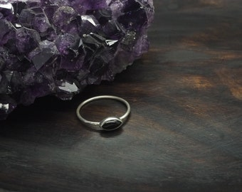 LOMASI Black Onyx Sterling Silver 925 Ring