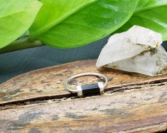 SATINKA Onyx Sterling Silver 925 Ring