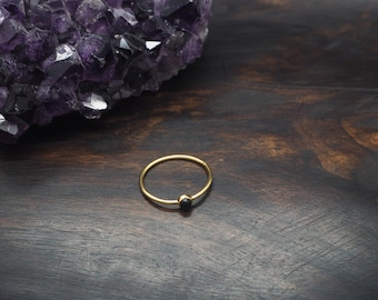 ANGENI Onyx Sterling Silver 925 18ct Gold Plated Ring