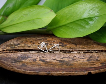 TRIANGLE Sterling Silver 925 Ear Studs
