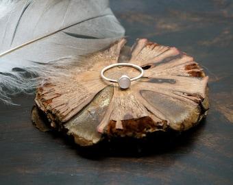 SANI Rose Quartz Sterling Silver 925 Ring
