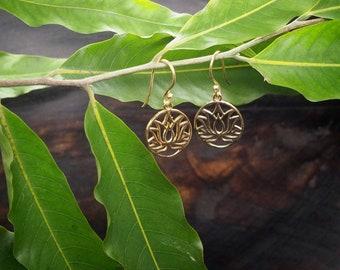 LOTUS Tribal Brass Earrings
