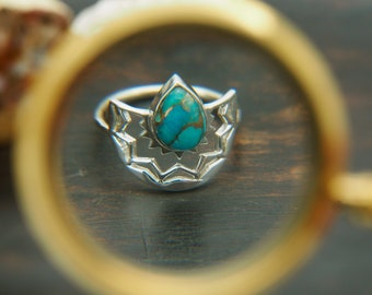 MUNA American Turquoise Sterling Silver 925 Ring